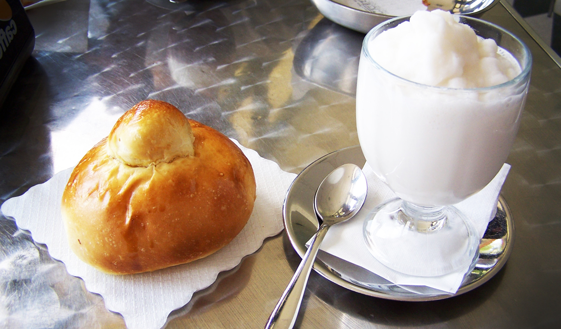 As shown below, the granita is either served on the side or inside the ...
