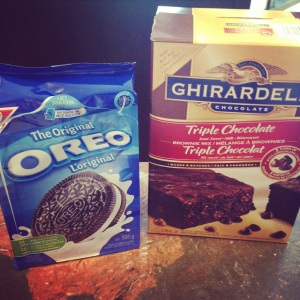 Oreo box and Girardelli box insta