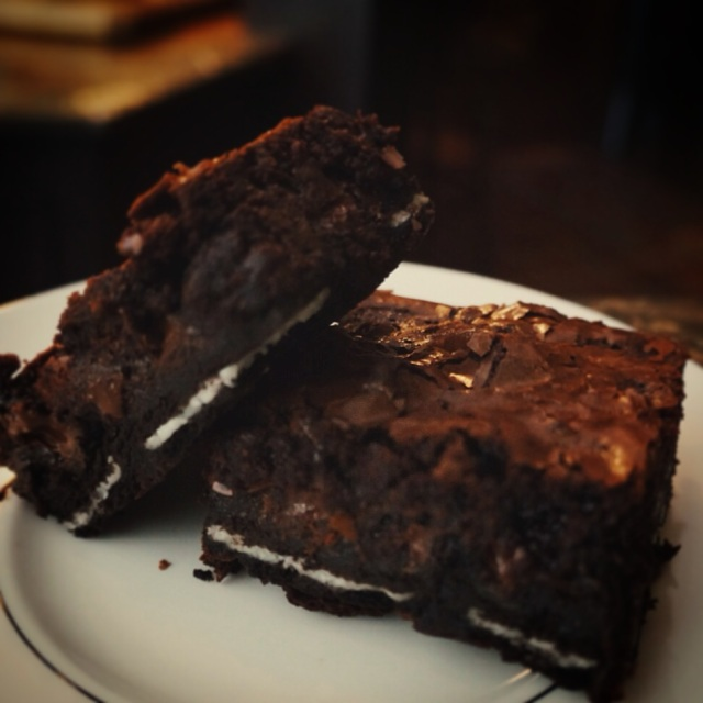 High Altitude Ghirardelli Oreo Brownies
