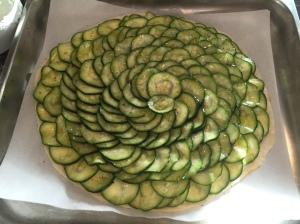 Zucchini tart raw