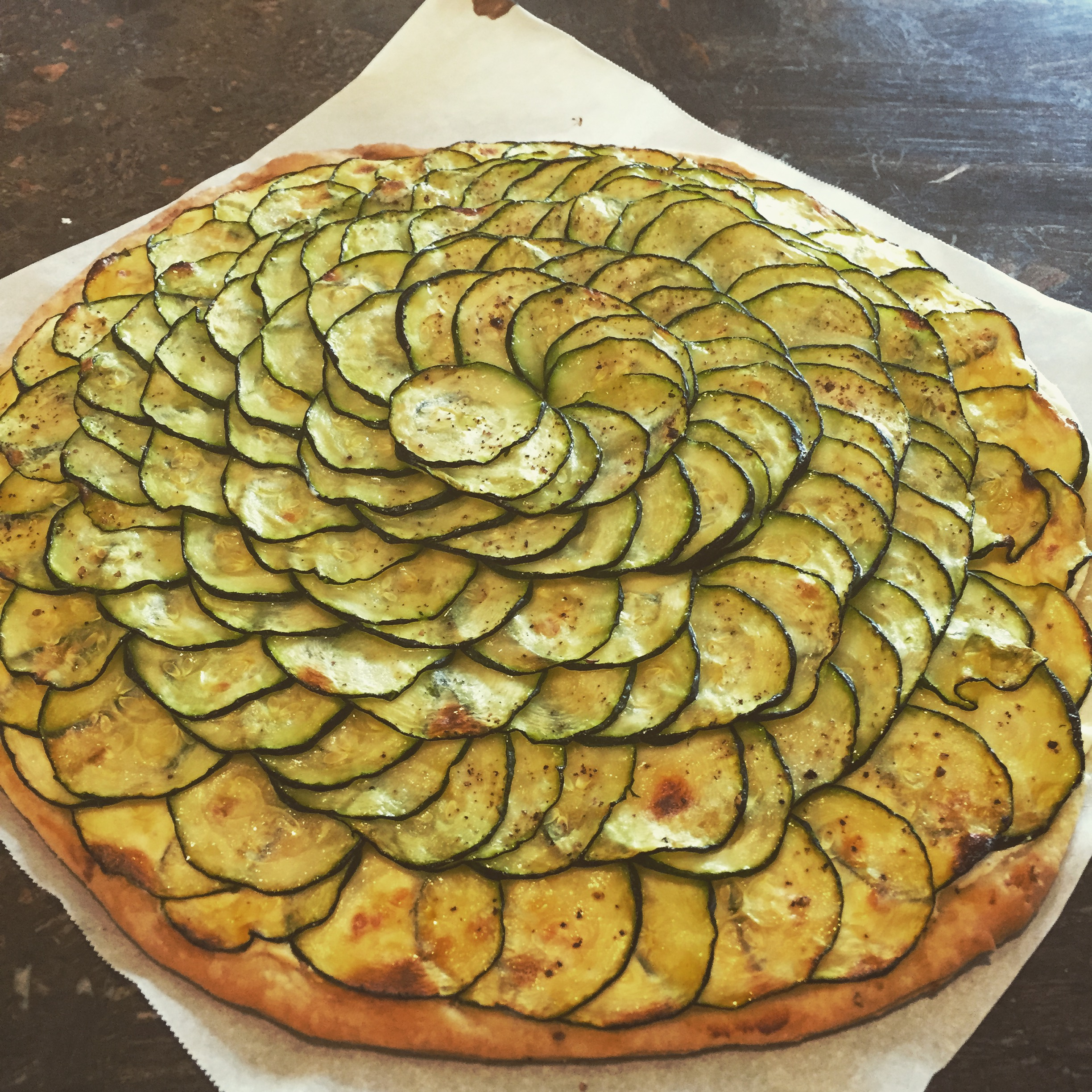 Zucchini And Goat Cheese Tart