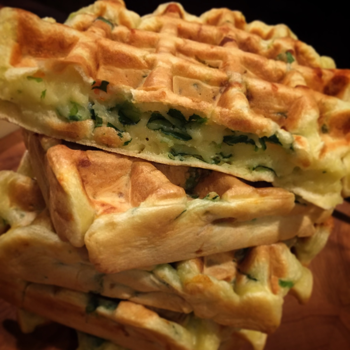 On the grid - Savoury Vegetable Waffles