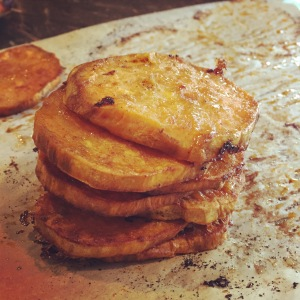 Sweet potato buns stack