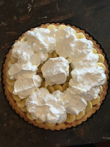 Banoffee whipped cream topping