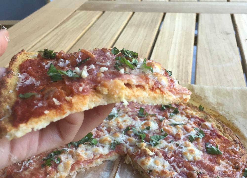 Cauliflower Pizza slice