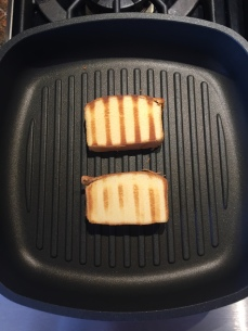 Pound cake grilled in pan