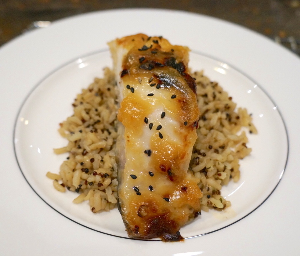 Miso Glazed Black Cod Plated 1