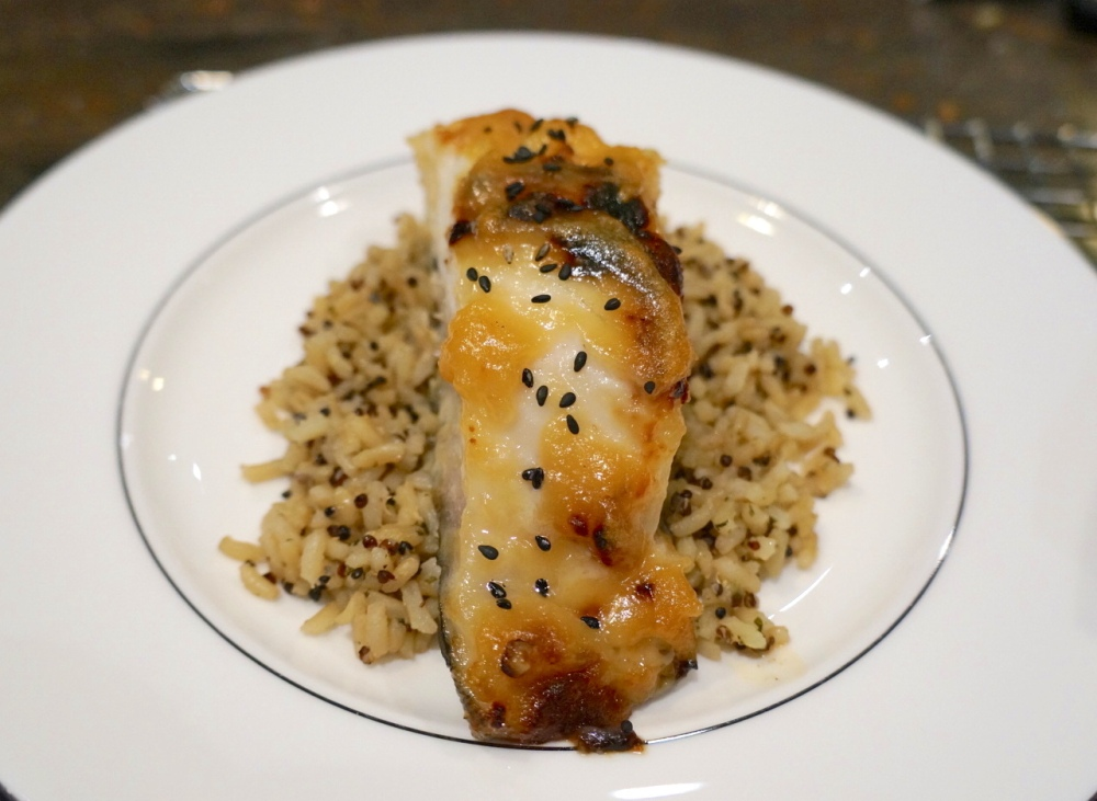 Miso Glazed Black Cod Plated