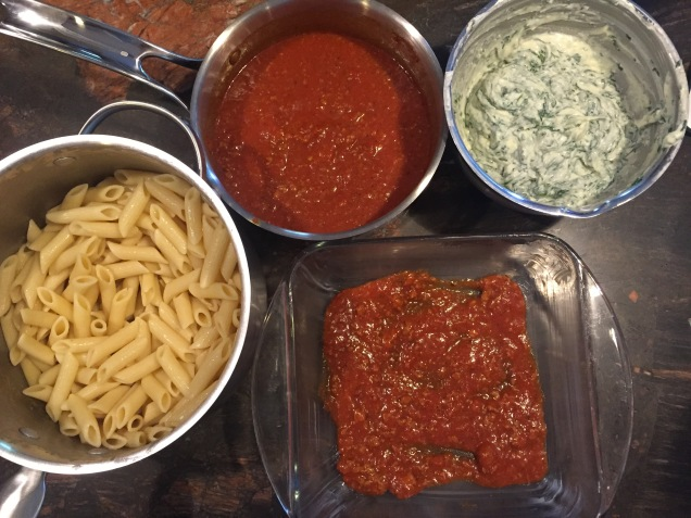 Lazy Lasagna ingredients