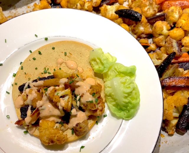 Chickpea Cauliflower pancake sauce 2