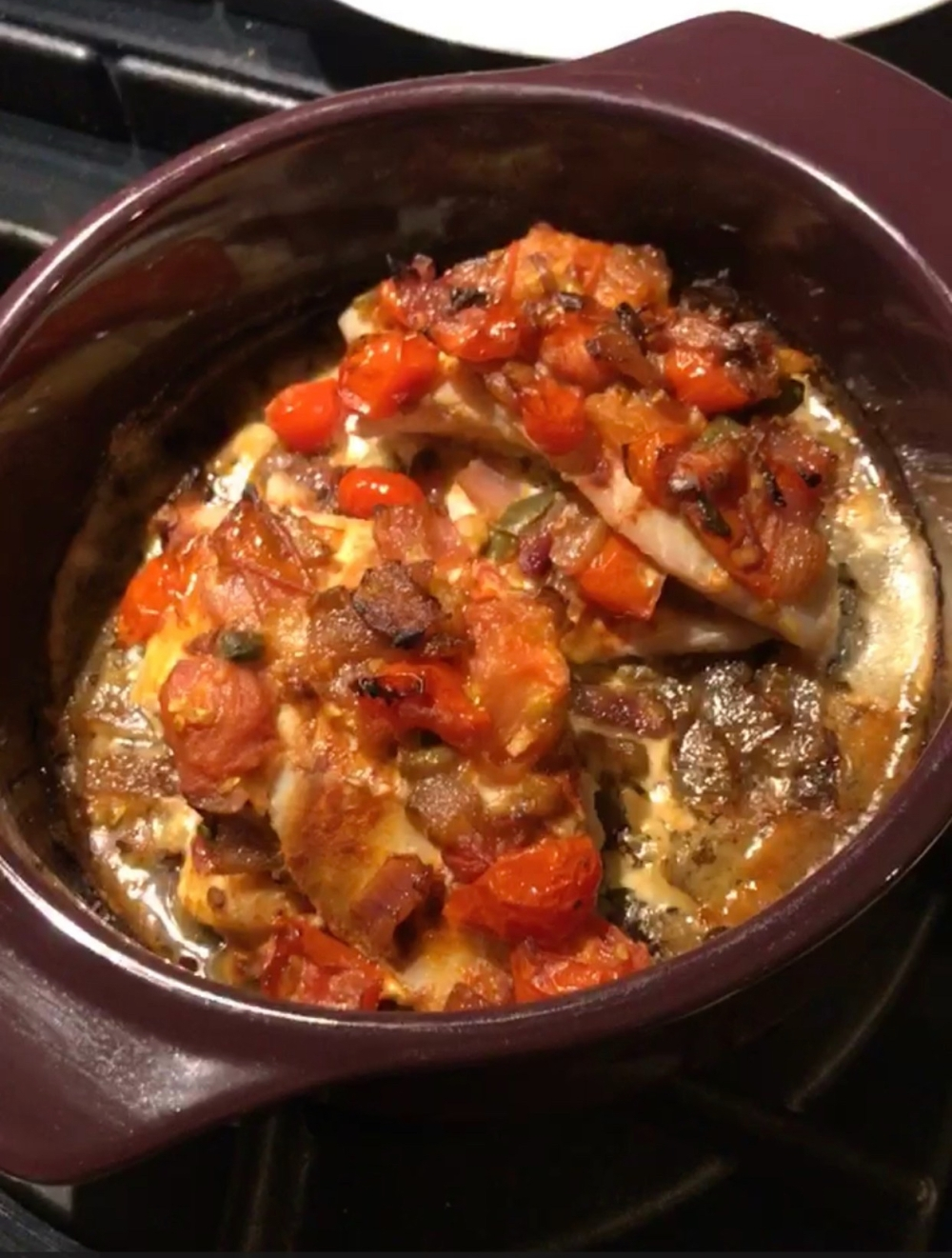 Baked Red Snapper Veracruz Style